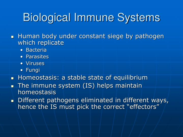 Biological Immune Systems