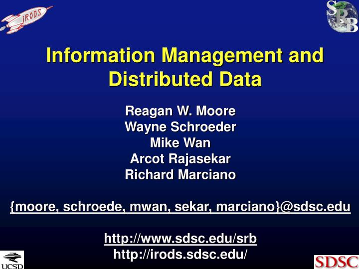 information management and distributed data