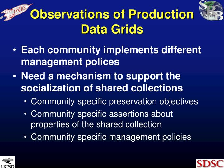 Observations of Production Data Grids