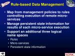rule based data management
