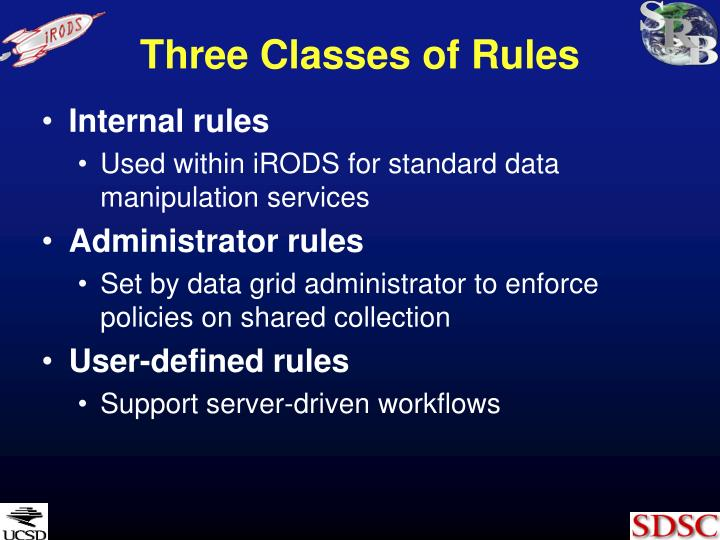 Three Classes of Rules