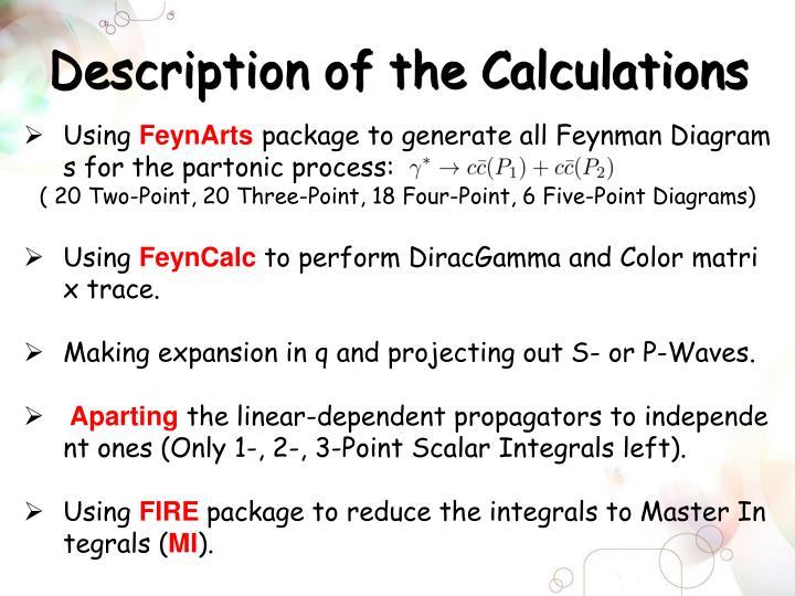 Description of the Calculations