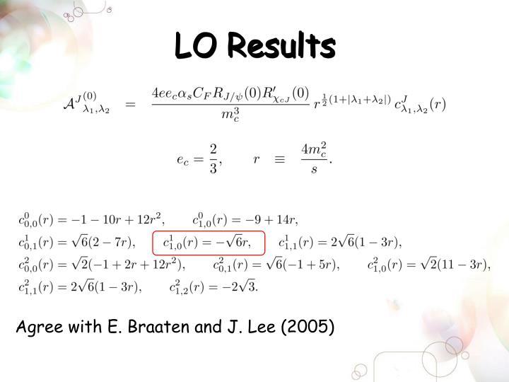 LO Results