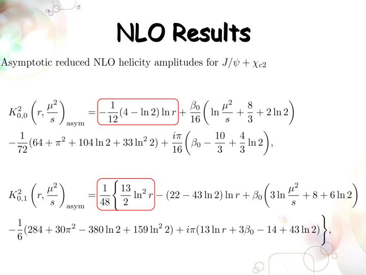 NLO Results