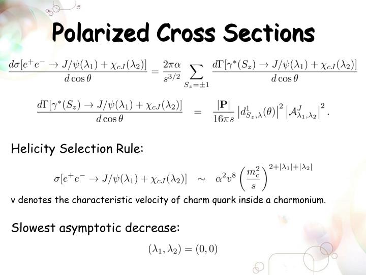 Polarized Cross Sections