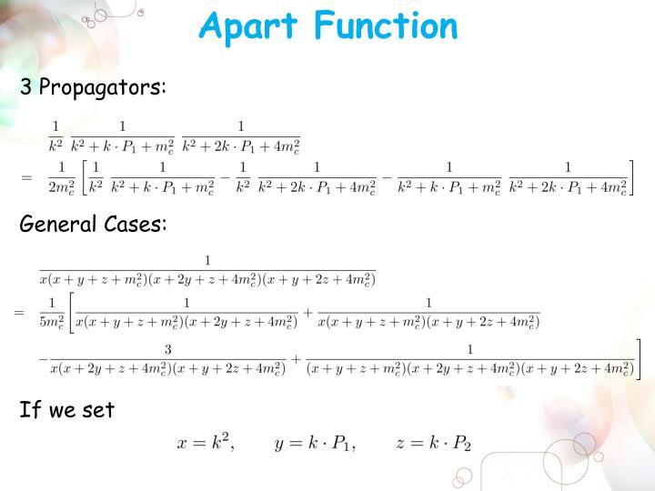Apart Function