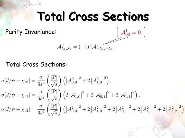 Total Cross Sections