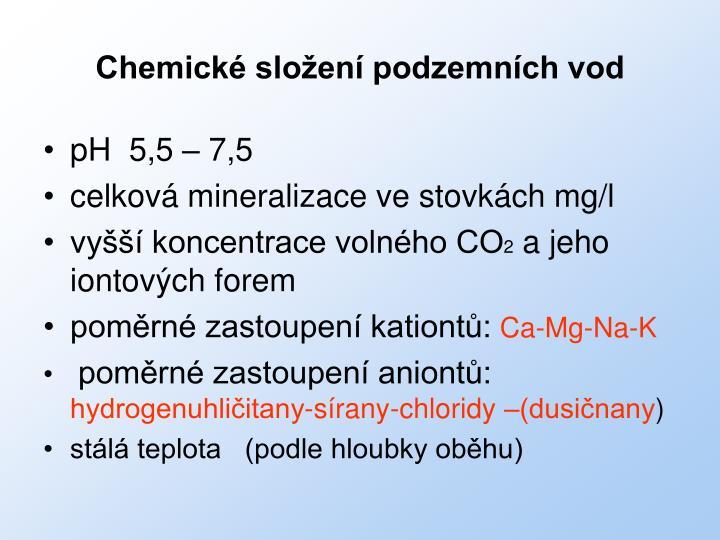 Chemické složení podzemních vod