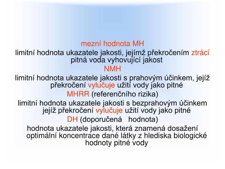 mezní hodnota MH
