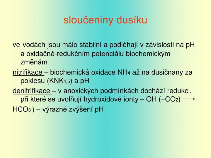 sloučeniny dusíku