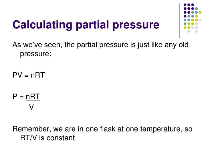 Calculating partial pressure