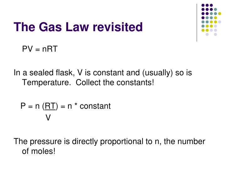 The gas law revisited