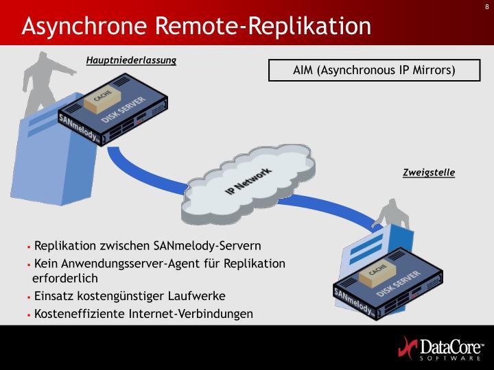 Asynchrone Remote-Replikation