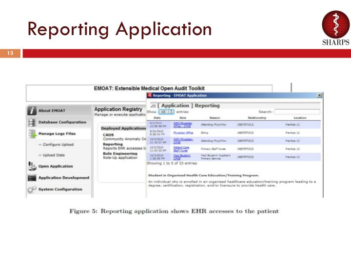 Reporting Application