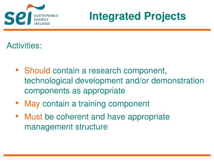 Integrated Projects