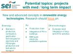 potential topics projects with med long term impact2