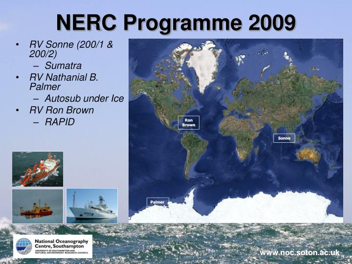 NERC Programme 2009