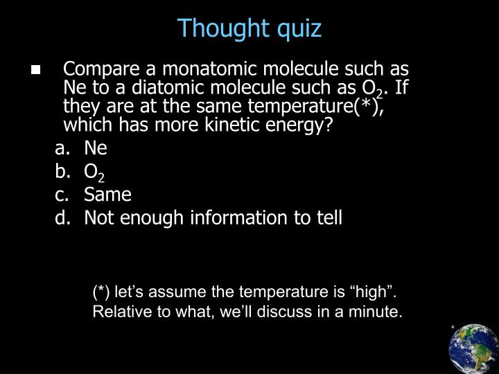 Thought quiz