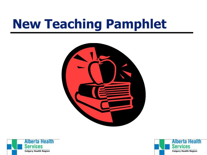 New Teaching Pamphlet