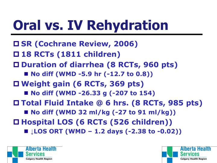 Oral vs. IV Rehydration
