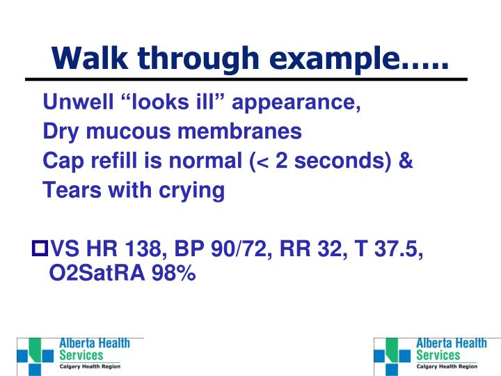 Walk through example…..