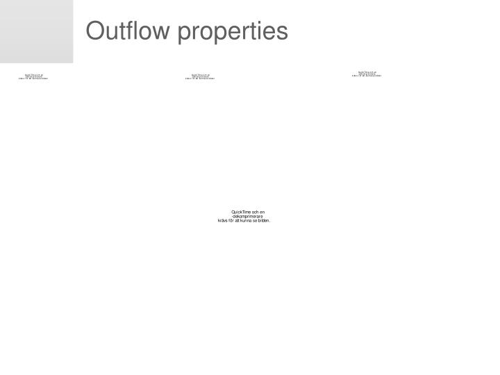 Outflow properties