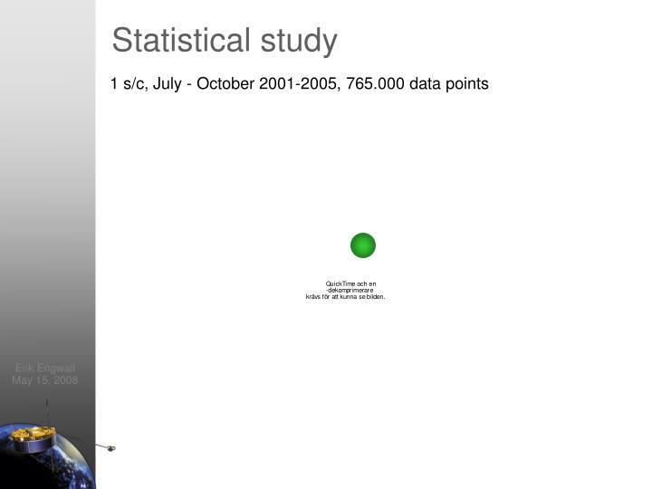 Statistical study