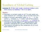 soundness of global caching1