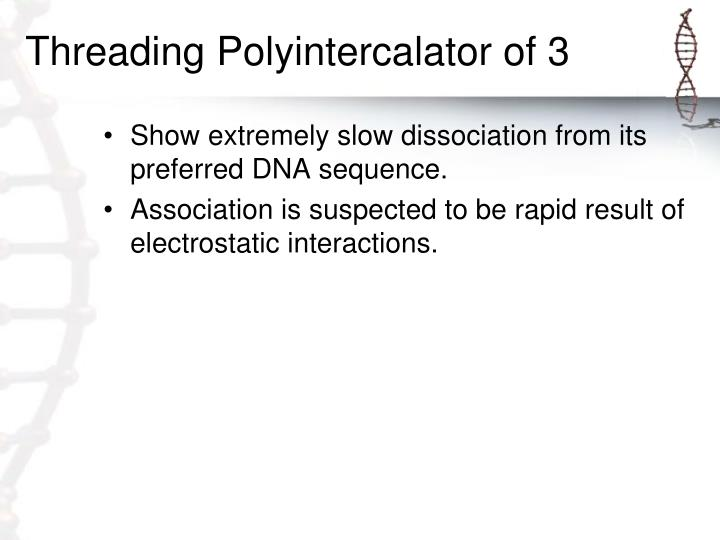 Threading Polyintercalator of 3