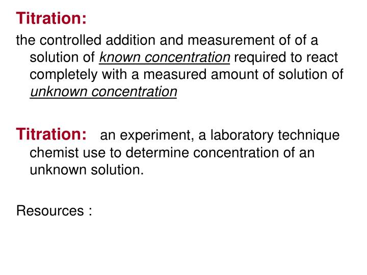 Titration: