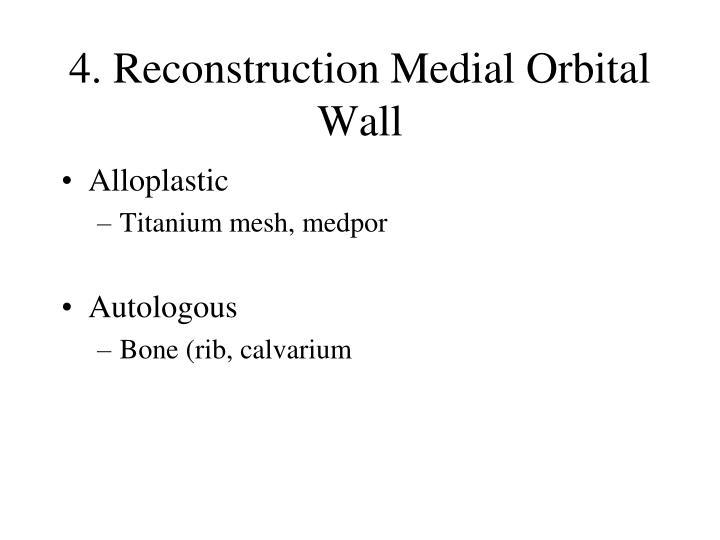 4. Reconstruction Medial Orbital Wall