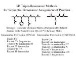 3d triple resonance methods for sequential resonance assignment of proteins
