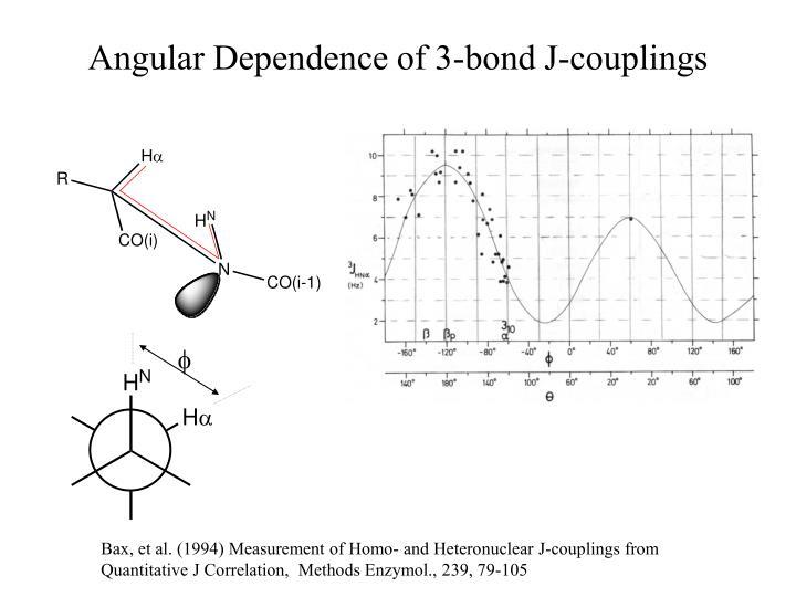 Angular Dependence of 3-bond J-couplings