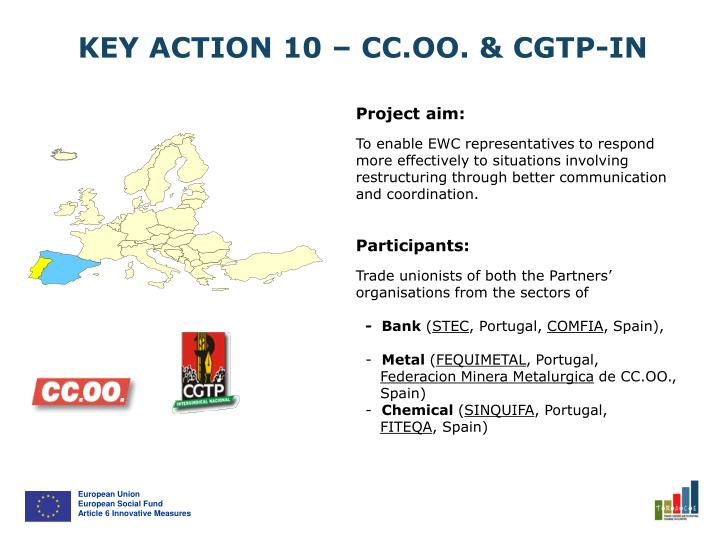 KEY ACTION 10 – CC.OO. & CGTP-IN