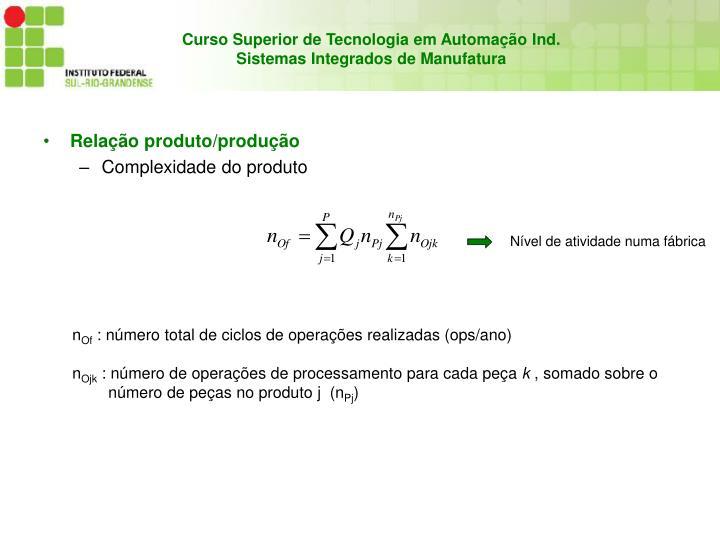 Relação produto/produção