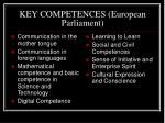 key competences european parliament
