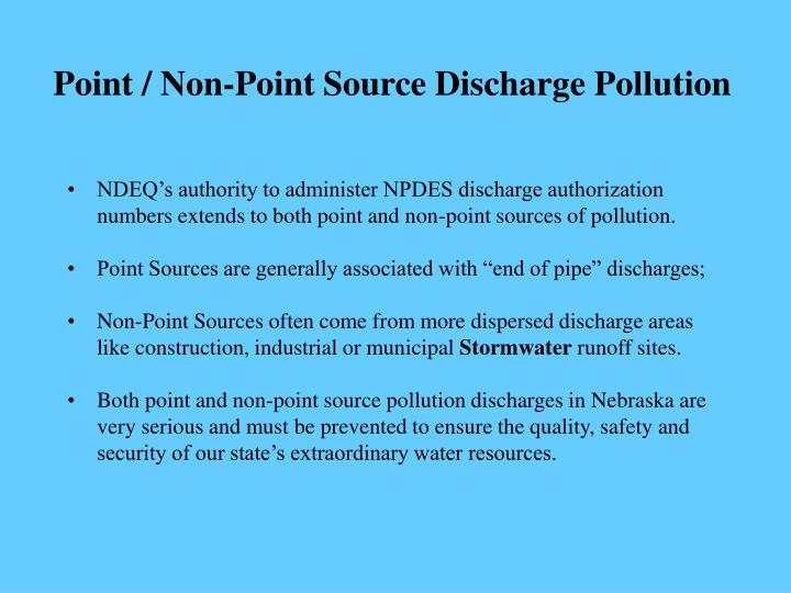 Point / Non-Point Source Discharge Pollution