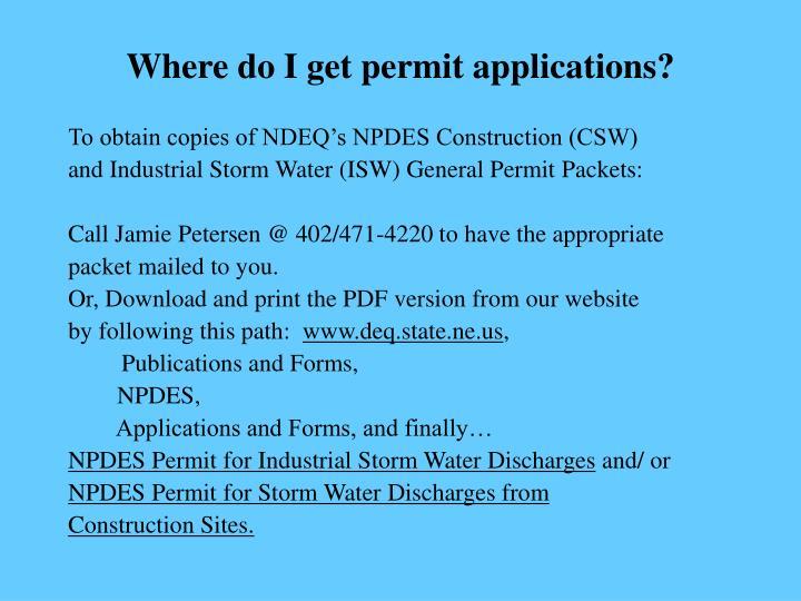 Where do I get permit applications?