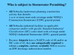 who is subject to stormwater permitting