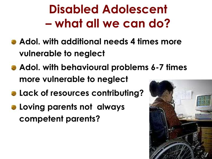 Disabled Adolescent
