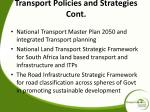 transport policies and strategies cont1
