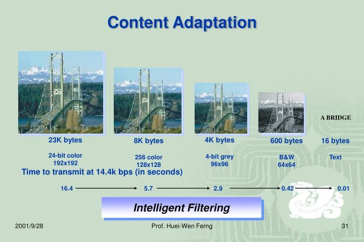 Content Adaptation