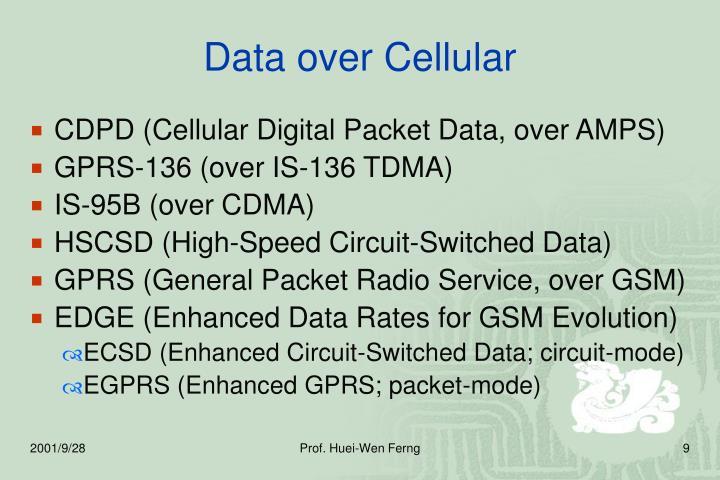 Data over Cellular
