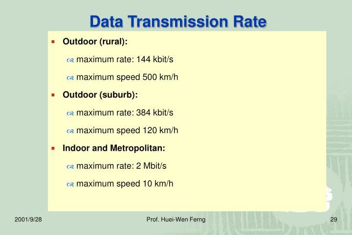 Data Transmission Rate