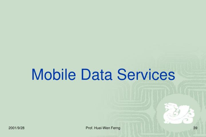 Mobile Data Services