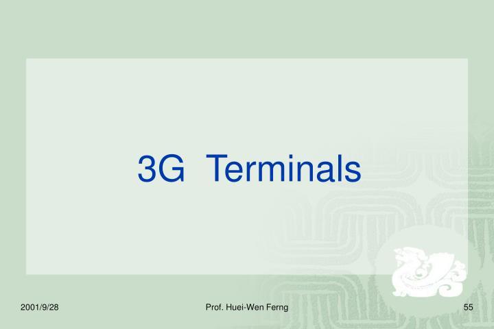 3G  Terminals