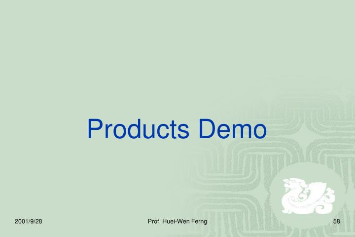Products Demo