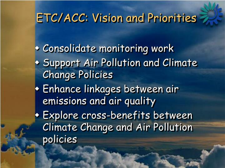 Etc acc vision and priorities