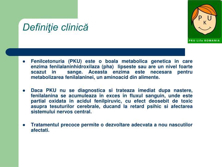Definiţie clinică