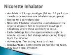 nicorette inhalator